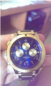 2015 nouveautés 100% 48-20 A486-1922mens quartz chrono décontracté montres montres de mode Blue Gold avec boîte originale cadeau de Noël