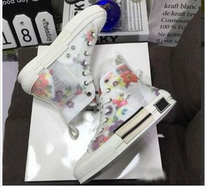 19SS цветы технические холст B23 B24 высокие верхние кроссовки в Косой мужской бренд B23 дизайнерская обувь Женская мода кроссовки