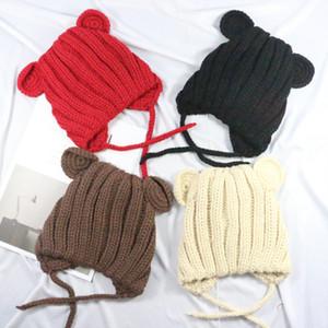 Nicely Unisex Venda Quente Chapéu Do Bebê com Orelhas Meninas Bonitos Chapéus para Crianças 2018 Infant Caps Natal para o Inverno Menina
