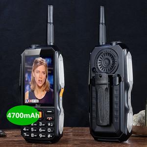 DBEIF D2017 voz mágica Dual SIM card lanterna FM externa à prova de choque mp3 / mp4 antena banco de potência TV analógica Robusto telefone celular móvel