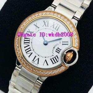 EG V6 Ballon Bleu de lusso Womens Watch quarzo svizzero Diamante Orologio Donna convesso vetro zaffiro 316L Acciaio Ladies Watches
