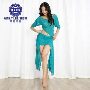 새로운 섹시한 여성들 2018 Belly Dance Costumes 정장 복장 2 피스 topskirt 그룹 분류 클럽 공연 Dancewear