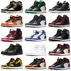 Nuovo 1 I High OG Bred Toe Chicago Banned Game Royal Boots Scarpe Uomo 1s Top 3 Shattered Backboard Shadow Multicolor