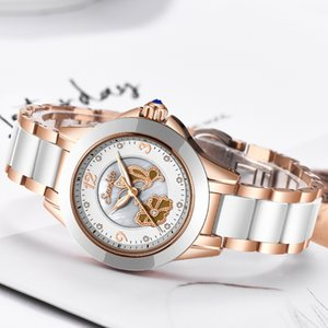 SUNKTA Montre en cristal femmes imperméable or rose Bracelet en acier Mesdames Montres Top Marque Bracelet Horloge Relogio Feminin