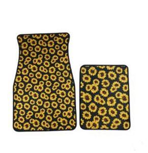 Tapis de sol voiture Pied néoprène universel de voiture Tapis imprimé léopard Tapis de pied Anti Débardage couverture décor de bain LXL105-A