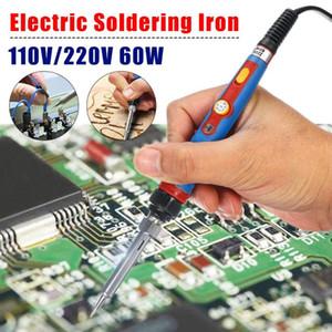110V / 220V 60W eléctrico de soldadura de hierro termostato ajustable internamente calentado ecológico Soldador Consejos Pen