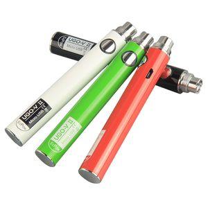 Os mais recentes UGO V2 VII Baterias 510 Tópico Vape cartucho de pré-aquecimento recarregável EcPow Vape Pen 650mAh 900mAh Ugo bateria com carregador USB