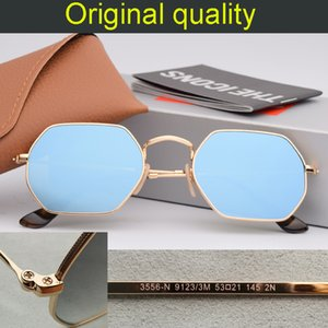 Classic design Hexagon flat lens Sunglasses Women Small Square Sun glases Men Metal Frame Driving Fishing rd3556 gafas Sun Glasses Female