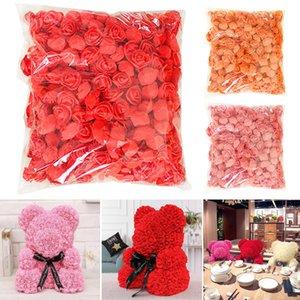 500pcs / pack main Rose fleur Simulation mousse PE décoratif Corolle Garland Accessoires UD88