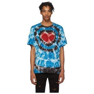 20SS Street Trend красочная печатная футболка Love Heart повседневная печать рубашки с коротким рукавом мужские женские дизайнерские нищие футболки HFXHTX181