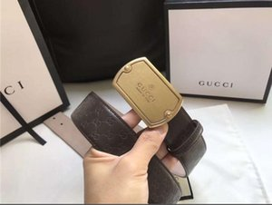 New Designer Business Leisure Genuine Leather CD Belt Mens Smooth Buckle Luxury