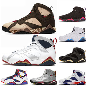 Nike Air Jordan Retro 7 7s Zapatillas de baloncesto Jumpman de alta calidad Patta Raptors Olympic GMP French Blue Ray Allen Tinker Alternate Hare Retro Trainers Sneakers