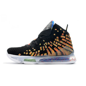 Mens James Gang lebron 17 basball shoes Fruumity Pebbles Multi Black Infrared Blue White new 2020 Lebrons 17s XVII snex with box