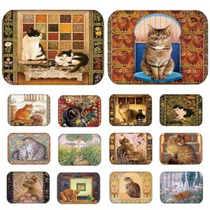 RIANCY Lovely Cats Pattern Anti-Slip Suede Carpet Door mat doormat Outdoor Kitchen Living room Floor Mat Rug 40*60cm 48199