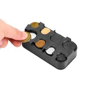 Mini Coin Coleção Bolsa Carteira Organizer Titular Euro Coin Coin Dispenser Changer Titular Mealheiro Caixa de armazenamento de plástico
