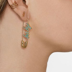 europeos y estadounidenses pendientes de la moda nueva joyería Pendientes PIN calle celebridad fotografía de moda exagerada hembra