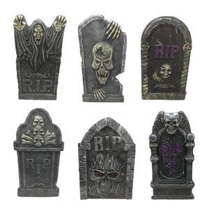 Espuma Tombstone decorativa Simulação Stereoscopic Party Favors layout Suprimentos Halloween Tombstone Decoração Haunted House Bar