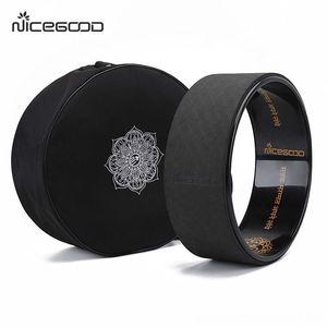 Nylon Black Wheel Large Fitness Supplies Capacity Yoga Circle Bag Pilates Wheel Backpack Yoga Ring Fitness Sports Shoulder Storage Bag