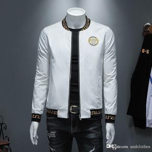 Europäische und amerikanische Mode-Designer-Jacke Mens Gewebe Windjacke de Designer Stehkragen moderne beiläufige Jacke der Männer