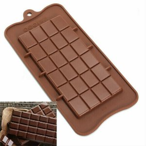24 Grid Square Chocolate Mold silicone mold dessert block mold Bar Block Ice Silicone Cake Candy Sugar Bake Mould KHA228