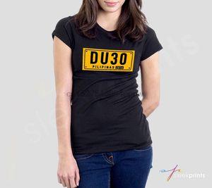 Duterte DU30 Pilipinas 2020 License Plate design T-Shirt (BLACK) - Women's Fit