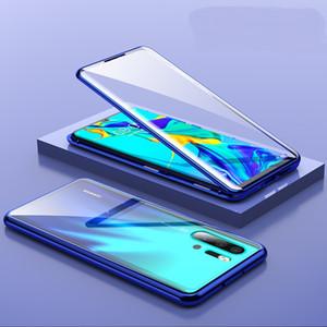 Anti Knock Magnetic Adsorption 360 Full Tempered Glass Flip Case para Huawei P30 Pro Huawei P30