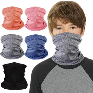 1PC Kids Pure Color Magic Scarf Invisible Pocket Design Half Face Neck Cover Scarf Dustproof Bandana Outdoor Cycling Accessory
