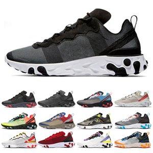 Nike Epic React Element 87 55 Hot react element 55 scarpe da corsa per uomo donna Jade Solar Red triple nero bianco Royal Red sneakers sportive misura 36-45