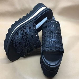 Stella Women's slippers Shoes high Quality Genuine Leather Women Fashion Platform Wedge Platform Oxfords slippers qx2