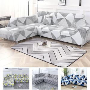 Cinza Cor cobrir sofá Elastic secional Couch Tampa Order 2 Pieces Sofá Se L-style secional de canto capa de