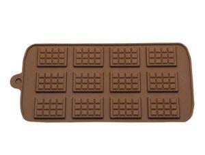 Yeni Yemek Silikon Kalıp 12 bile Çikolata Kalıp Fondant Kalıplar DIY Şeker Bar Kalıp Kek Dekorasyon Araçları Mutfak Pişirme Aksesuarları
