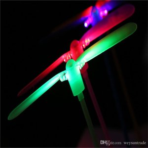 LED Flying Dragonfly Toy Plastic Helicopter Boomerang Children Party Christmas favors gift festive