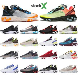With Socks React Element 55 87 Undercover Men Women running shoes Tour Yellow Bright Blue Orange Pee mens designer sneakers trainers shoes
