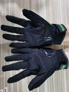 Kawasaki Moto dur Knuckle pleine doigts Gants PU Équipement de protection imperméable en cuir Racing Moto Moto Biker équitation Motocross 003