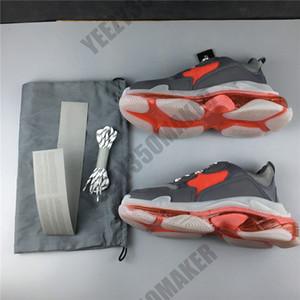 8 camadas único Paris Triplo S sapatos pai idiota Vinho branco preto Coxim vermelho Transparência Luxo calçados casuais OG Designer Homens Mulheres Tênis