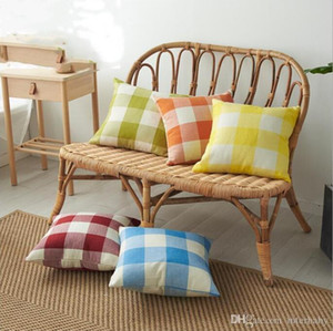 Classic Check Throw Plaid Pillow Covers Pillow Case Linen Decorative Pillowcase Sofa Couch Cushion Cover Bedding Supplies 14 Designs AYP6327