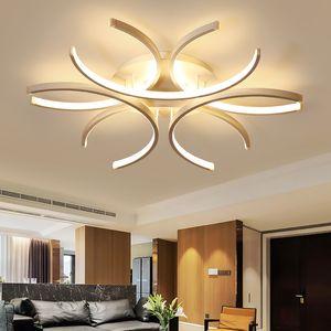 Modern LED Plafoniera Lampada da soffitto in alluminio onda bianca Superficie montata Luster Avize Lighting 110V-220V per soggiorno Camera da letto