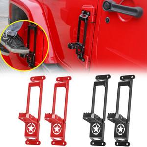 Pedal Do Pedal Do Pedal Da Dobradiça de Metal para Jeep Wrangler JK 07-17 acessórios exteriores automáticos