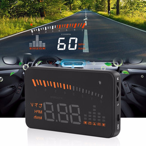 Freeshipping X5 HUD HEAD Up Display Araba HUD HEAD Up Display Araba Styling Hız Alarm OBD II Head-up Ekran OBD2 Arayüzü Promosyon Orijinal