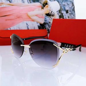 2020 Verão Mulher designer óculos de sol de luxo da mulher dos óculos Adumbral Goggle Óculos UV400 C 1886 3 Cor Altamente qualidade com caixa