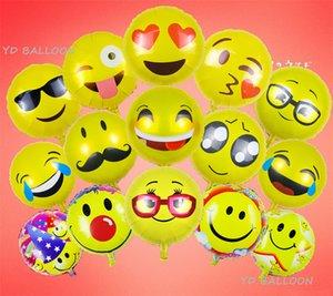 18 pouces ballon feuille Emoji heureux fête d'anniversaire Emoticons hélium décoration Ballon Ballons de mariage