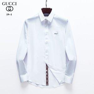2020ss neue Männer T-Shirt American Business-Marke Selbst-Anbau plaid0 Shirt Modedesigner Marke mit langen Ärmeln Baumwolle Freizeithemd M # 25