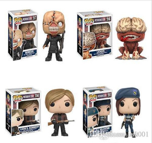 Nicegift FUNKO POP New Resident Evil 10cm NEMESIS, JILL VALENTINE, LICKER Action Figure Collection Model Toys For children birthday Gift