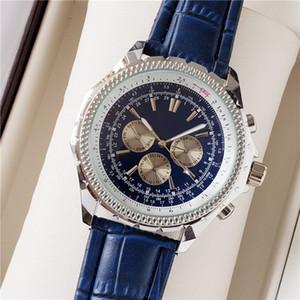 3A superiore di nuovo di marca automatica MenWrist orologio NAVITIMER Ti3 Quadrante Blu 1884 di moda maschile di lusso orologio blu orologio in pelle libera l'acquisto