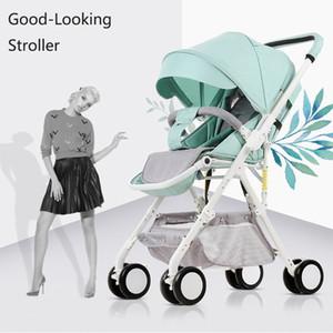 Poids léger bébé Poussette Can Sit Can Lie 2 en 1 bébé Pram Système haute Voyage Paysage Poussette