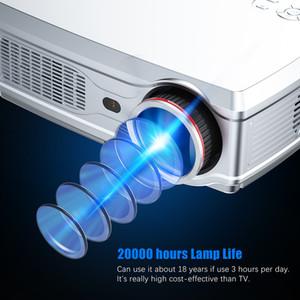 Freeshipping قوي كامل HD العارض 1080P LED Proyector 3D فيديو متعاطي المخدرات HD-MI لمدة 4K الذكية الروبوت 7.1 (2 جرام + 16 جرام) لاسلكي واي فاي المنزل السينما المنزلية