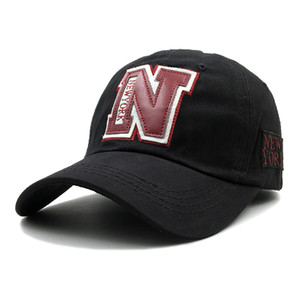 new 100% cotton N baseball cap hat for women men vintage dad hat NEW YORK embroidery letter outdoor sports Snapback caps