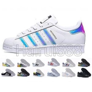 Adidas superstar Livraison Gratuite Haute qualité Superstar Blanc Noir Rose Bleu Bleu Or Superstars 80 Fierté Sneakers Super Star Femmes Hommes Sport Casual Chaussures