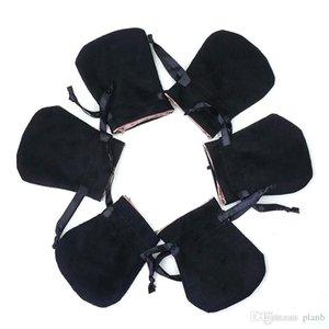 Negro de terciopelo joyas bolsas de polvo bolsa de granos de Pandora Style granos de los collares pulseras y collares de joyería de bricolaje bolsas de regalo