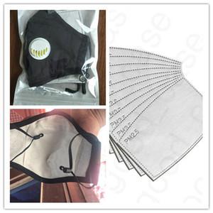 PM2. 5 ADULTE reniflard Valve Visage Masque avec un filtre coton Antipoussière brume Housse De Protection Réutilisable Lavable Bouche-moufle DHL livraison D4707